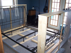 Construct the Footboard and wrap with screen