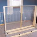 Construct the headboard and wrap with screen