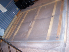 Measure the length so you will have enough screen to wrap around the headboard and footboard