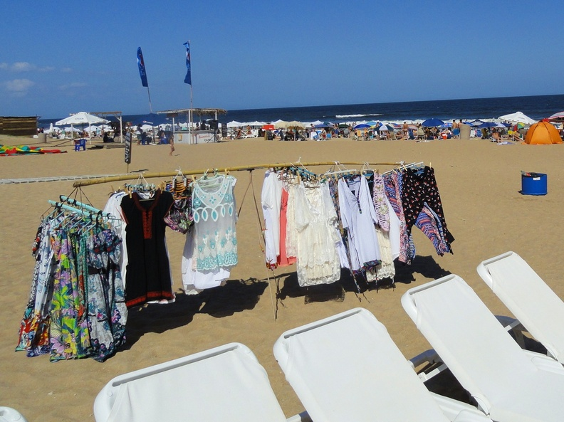 Clothes for sale on Punta Del Este Beach