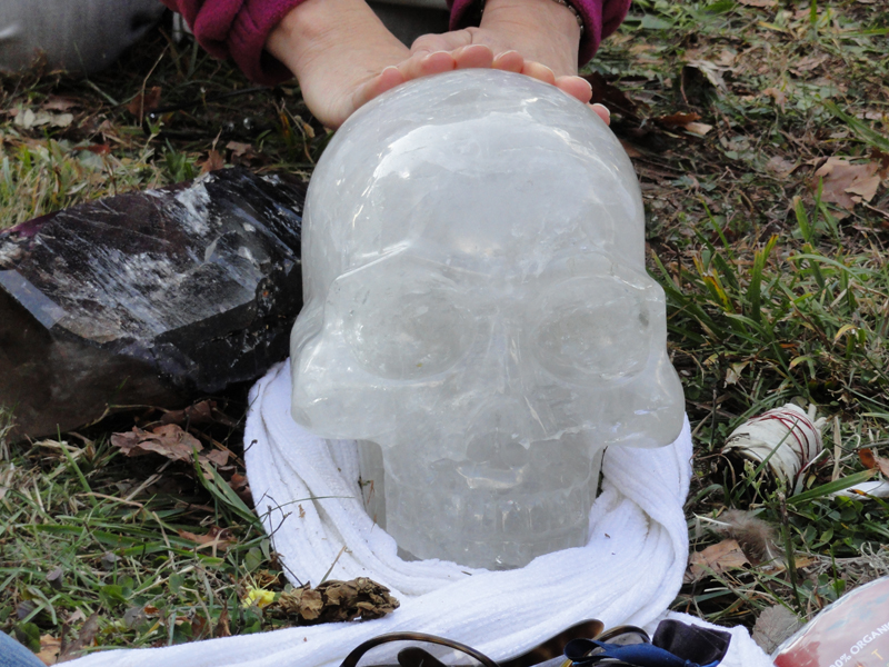 ancient crystal skull from Brazil-