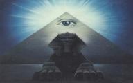 Eye Inside of Pyramid…Projection? UFO?