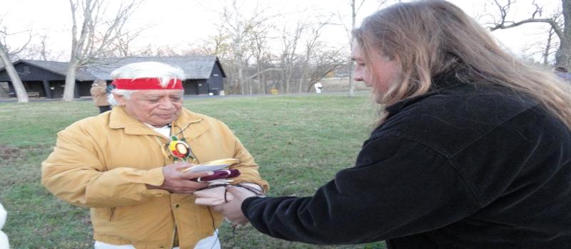 Grandfather Hunbatz Men 13 Crystal Skulls at Serpent Mound